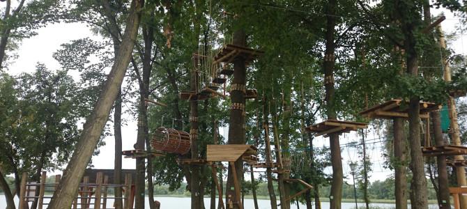 Już we wrześniu zakończy się budowa parku linowego w Ełku.